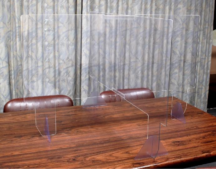 飛沫感染防止十字パーテーション